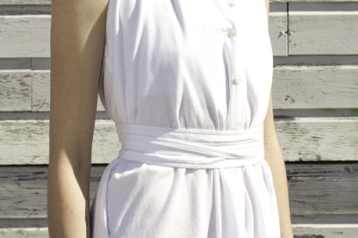 April pride vintage white halter zmkaex