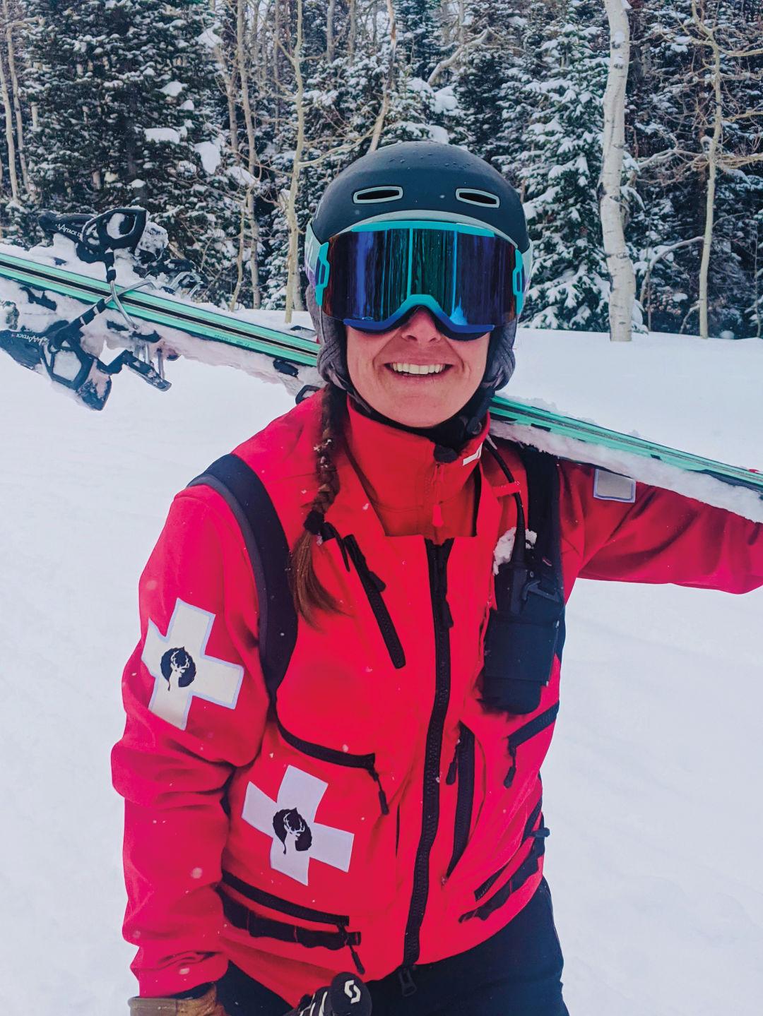 Julie Hygon, Ski Patroller
