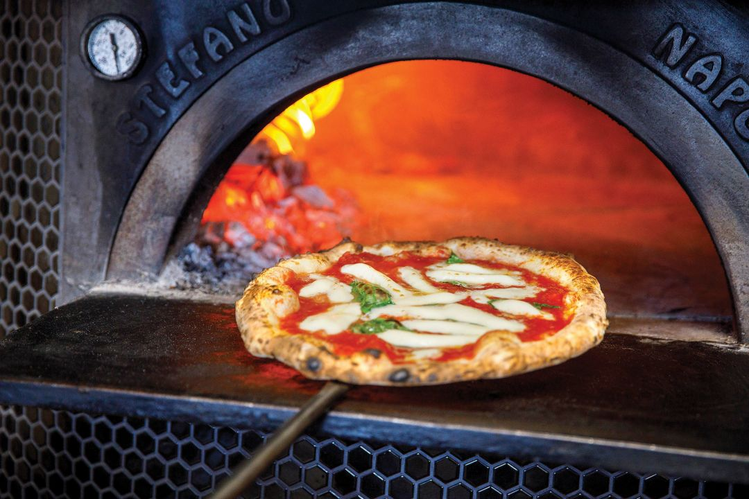 A Margherita pizza from Atmosphere