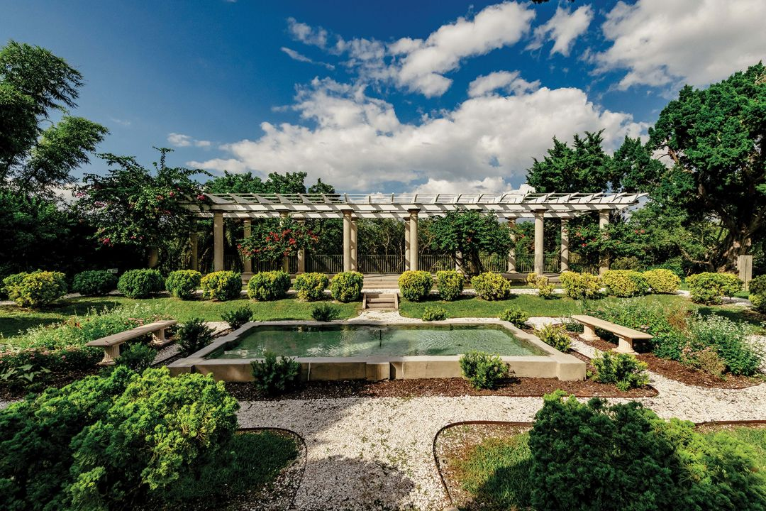 Bertha Palmer's Sunken Garden and Pergola.