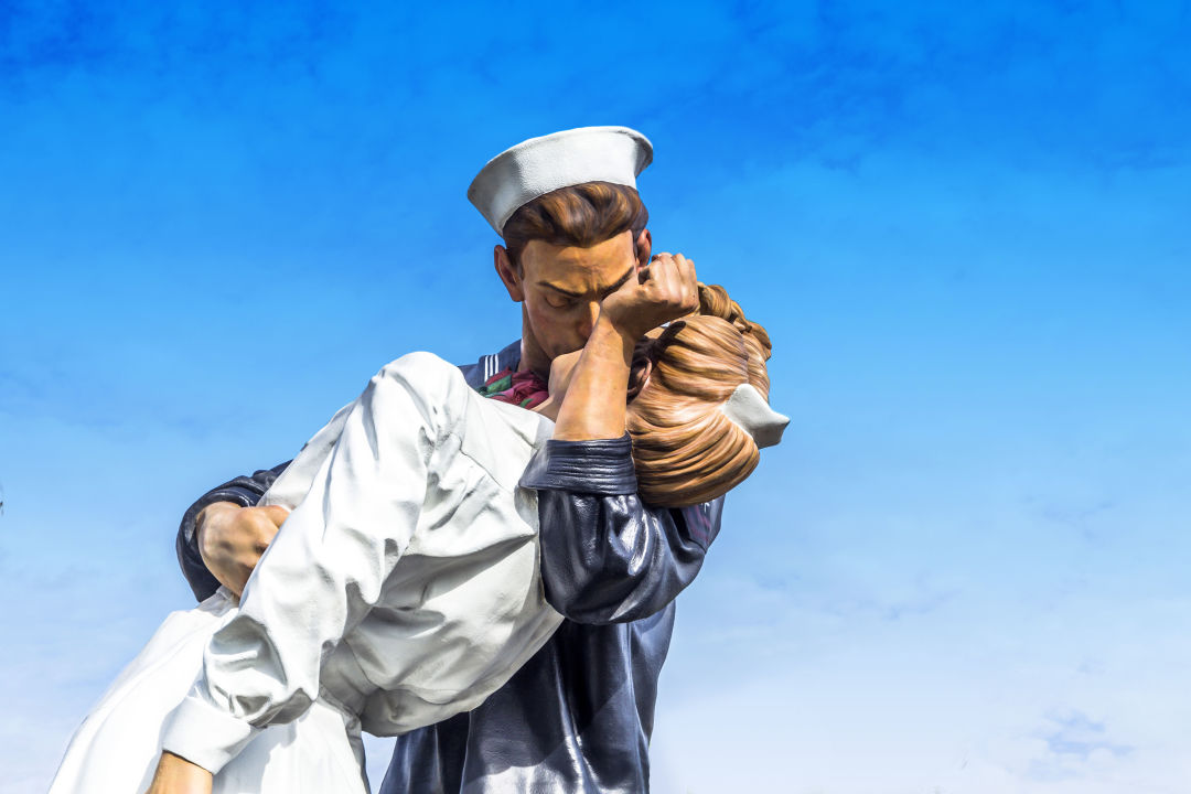 Downtown Sarasota's Unconditional Surrender statue