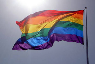 Homosexual rainbow flag dvcm0d