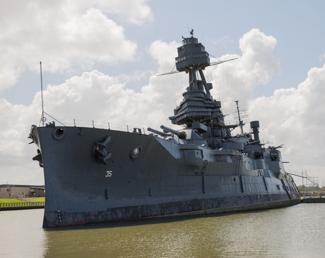 As Floodwaters Rise, a Moment of Reckoning for Battleship Texas ...