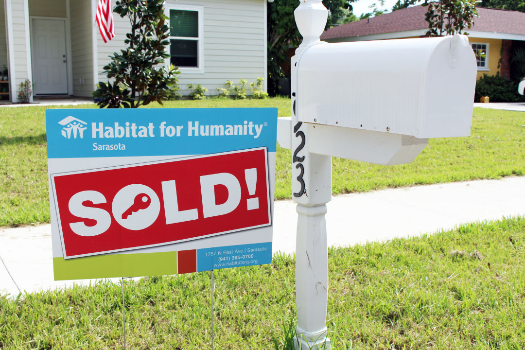 One of six homes recently sold by Habitat for Humanity Sarasota.