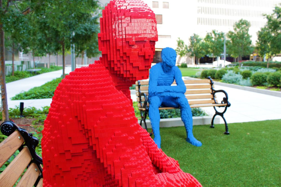 You Re Not Crazy Lego Humans Have Arrived In Houston