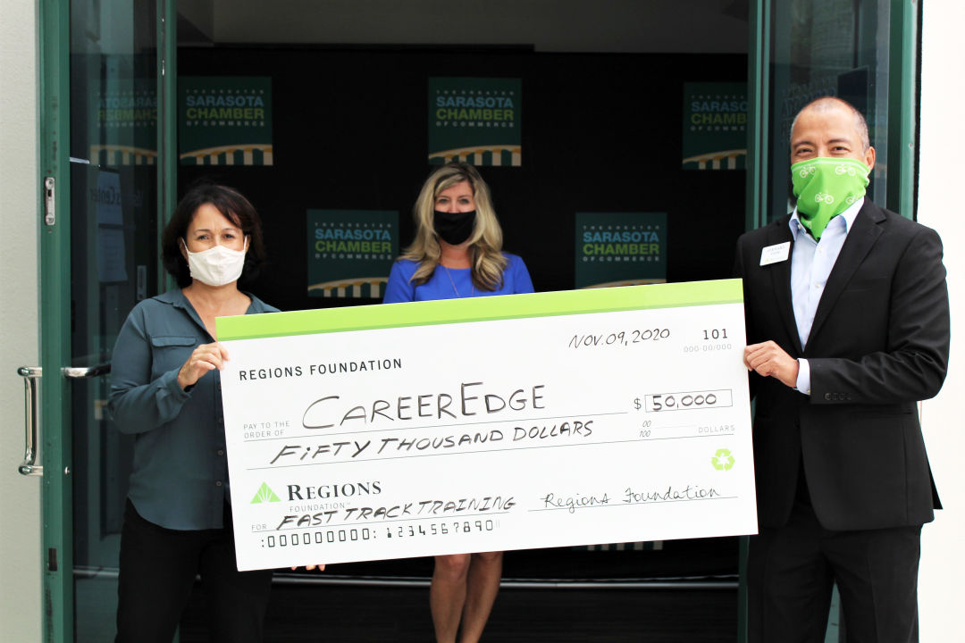 The Regions Foundation presented a $50,000 grant to CareerEdge.