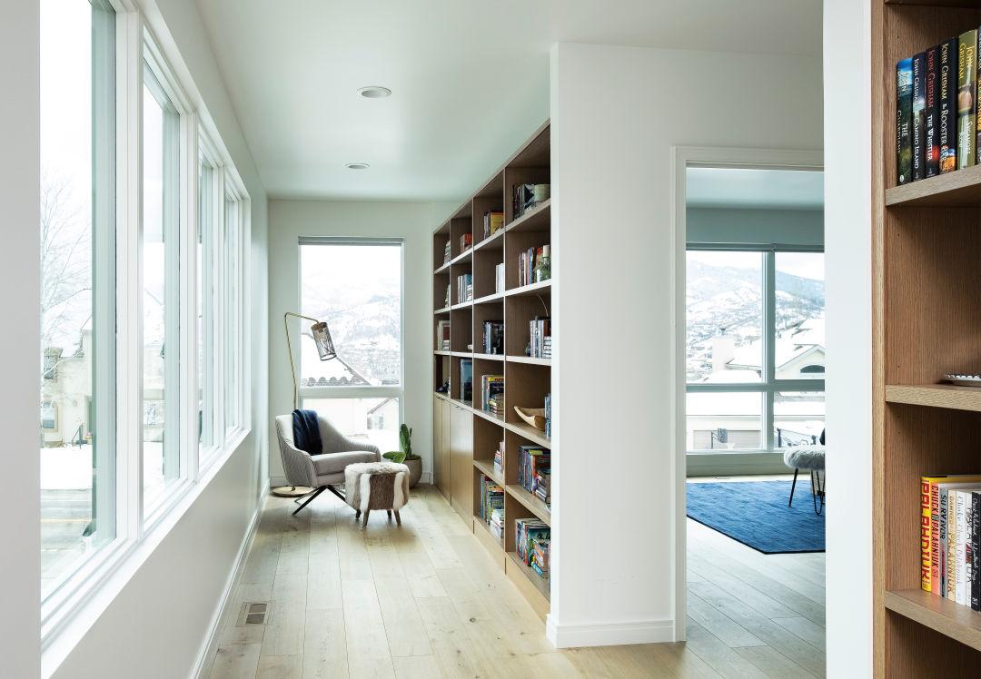 Hallway library nook