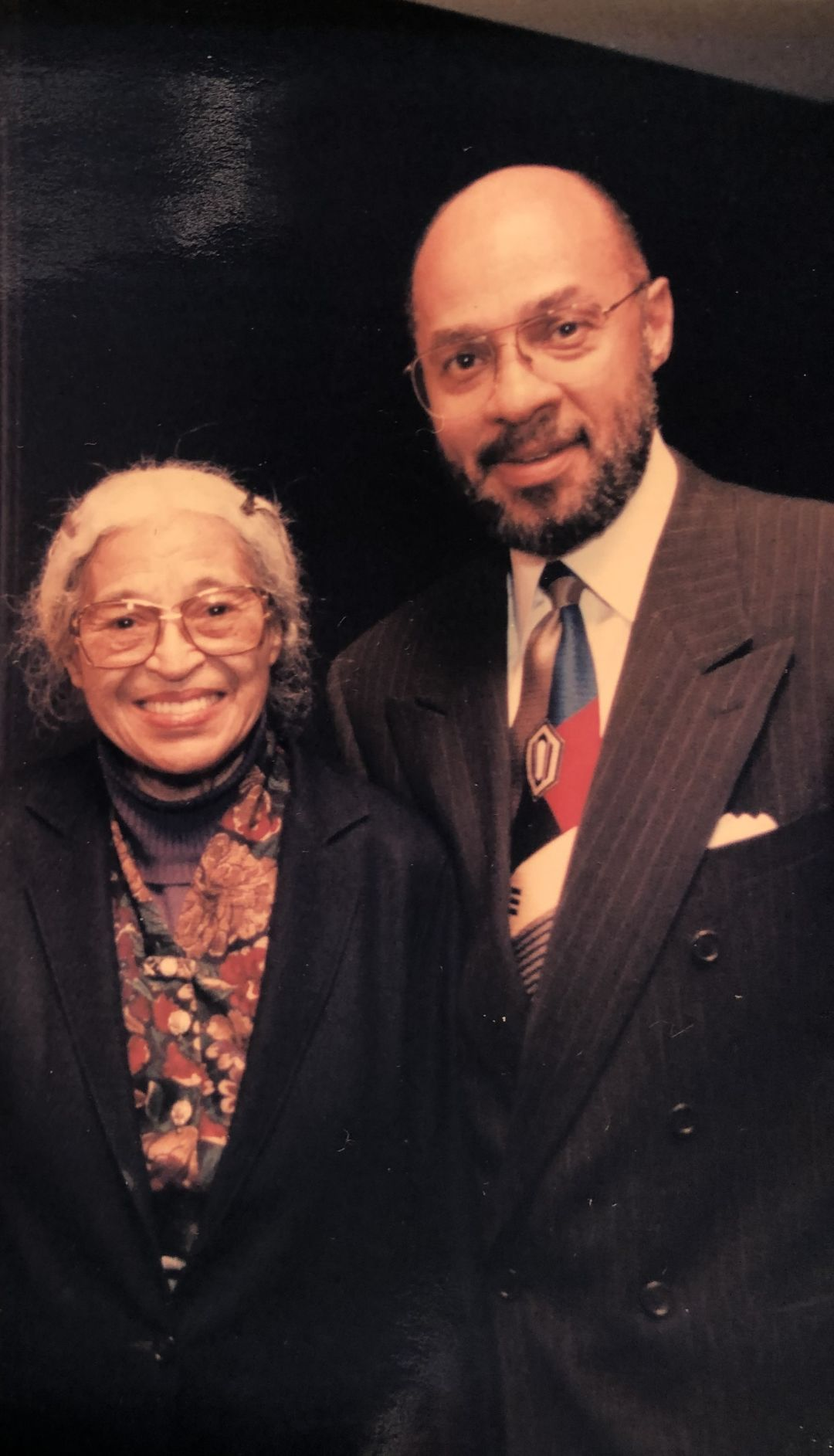 Dennis Archer with civil rights icon Rosa Parks. Archer was appointed Parks' legal guardian in 2004.