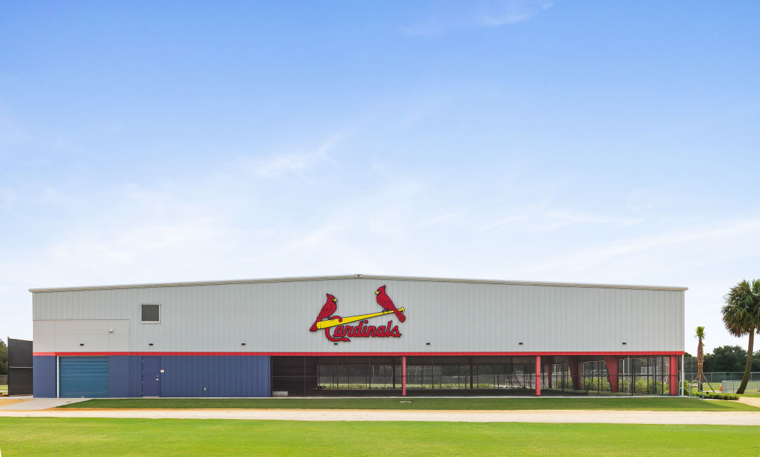 The new St. Louis Cardinals batting tunnel by Fawley Bryant Architecture.