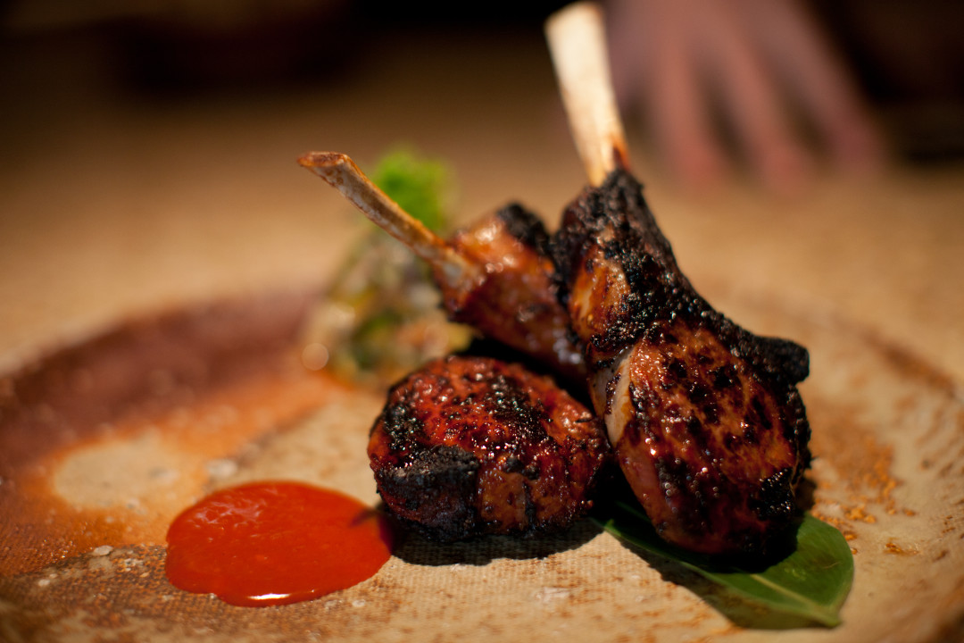 Lamb cutlets with korean spices jhgzra