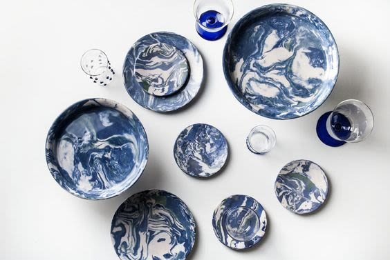 Marbled clay ring dishes simple life istanbul oo6nv0