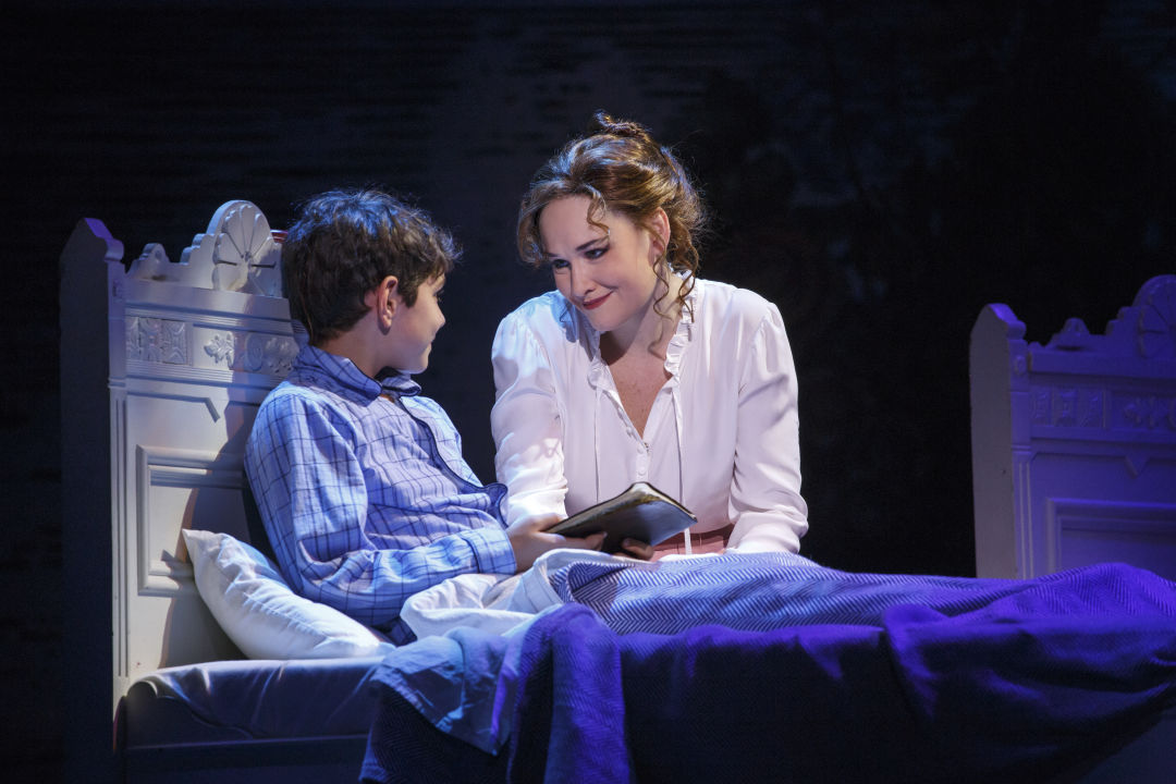 Ben krieger as peter christine dwyer as sylvia finding neverland credit carol rosegg g61wrf