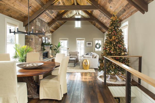 Christmas tree house interior holiday winter 2016 nn7sj4