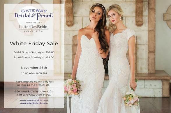 Gateway Bridal White Friday Sale