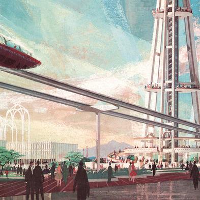 Future seattle illustration apuigm