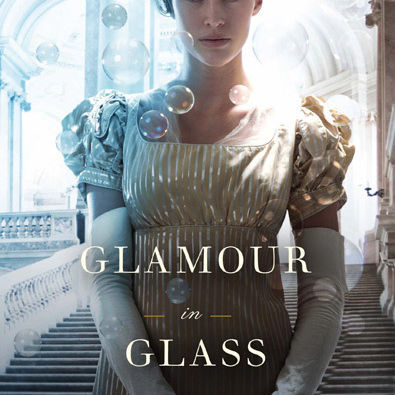 Glamour in glass book cover evgslc