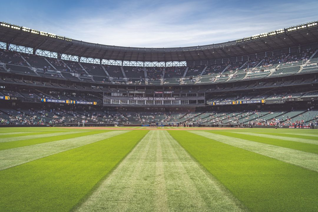 An empty shot of T-Mobile Park, home of the Seattle Mariners.