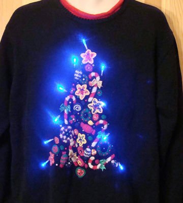G161a christmas sweaters with lights large fwuveo