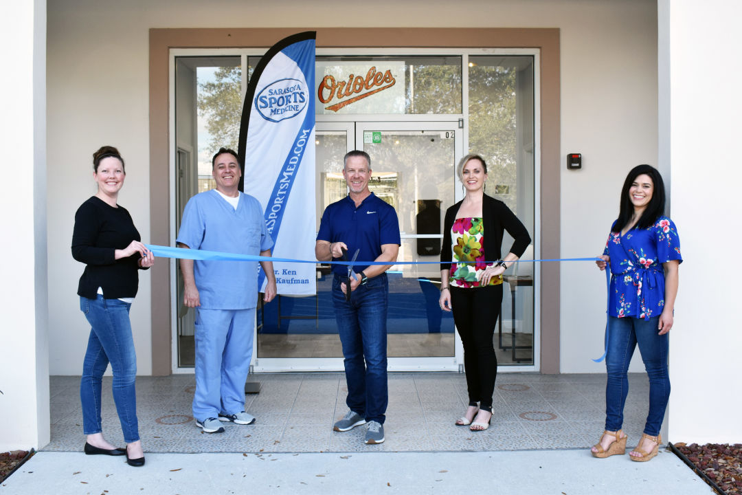 Jenna Cash (Office Manager), Dr. Joshua O'Dea (acupuncture physician), Dr. Ken Kaufman (Owner of Sarasota Sports Medicine/ chiropractor for the Baltimore Orioles), Heather Hacket (Nutrition Consultant), and Angie Sherk (Clinical Assistant).