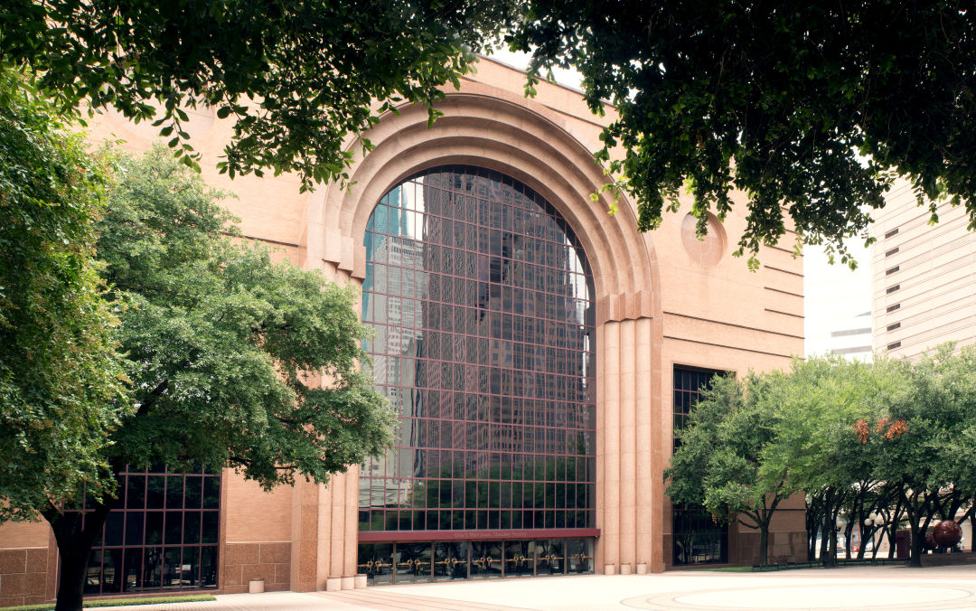 A photo of Wortham Theater Center in Houston.