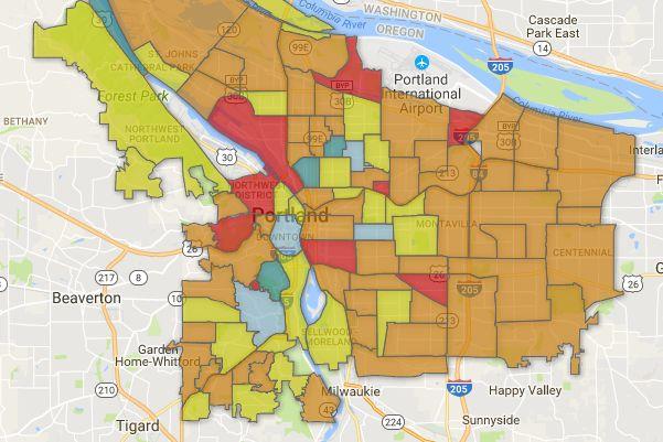 Portland Oregon Map Of Neighborhoods.Portland Neighborhoods By The Numbers 2017 The City Portland Monthly