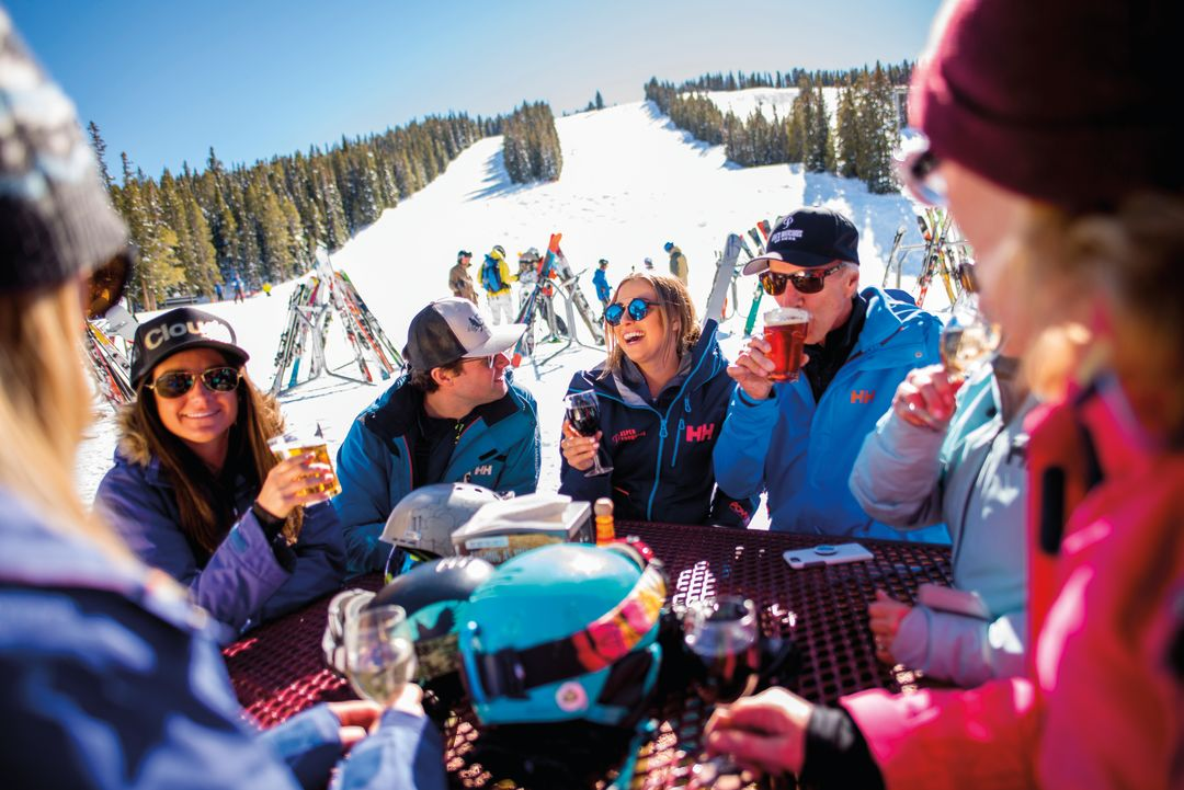 Nothing Says Spring Skiing Like A Perfect Patio Party.
