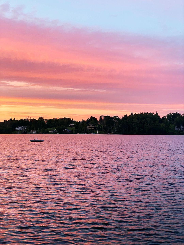 The lake at sunset
