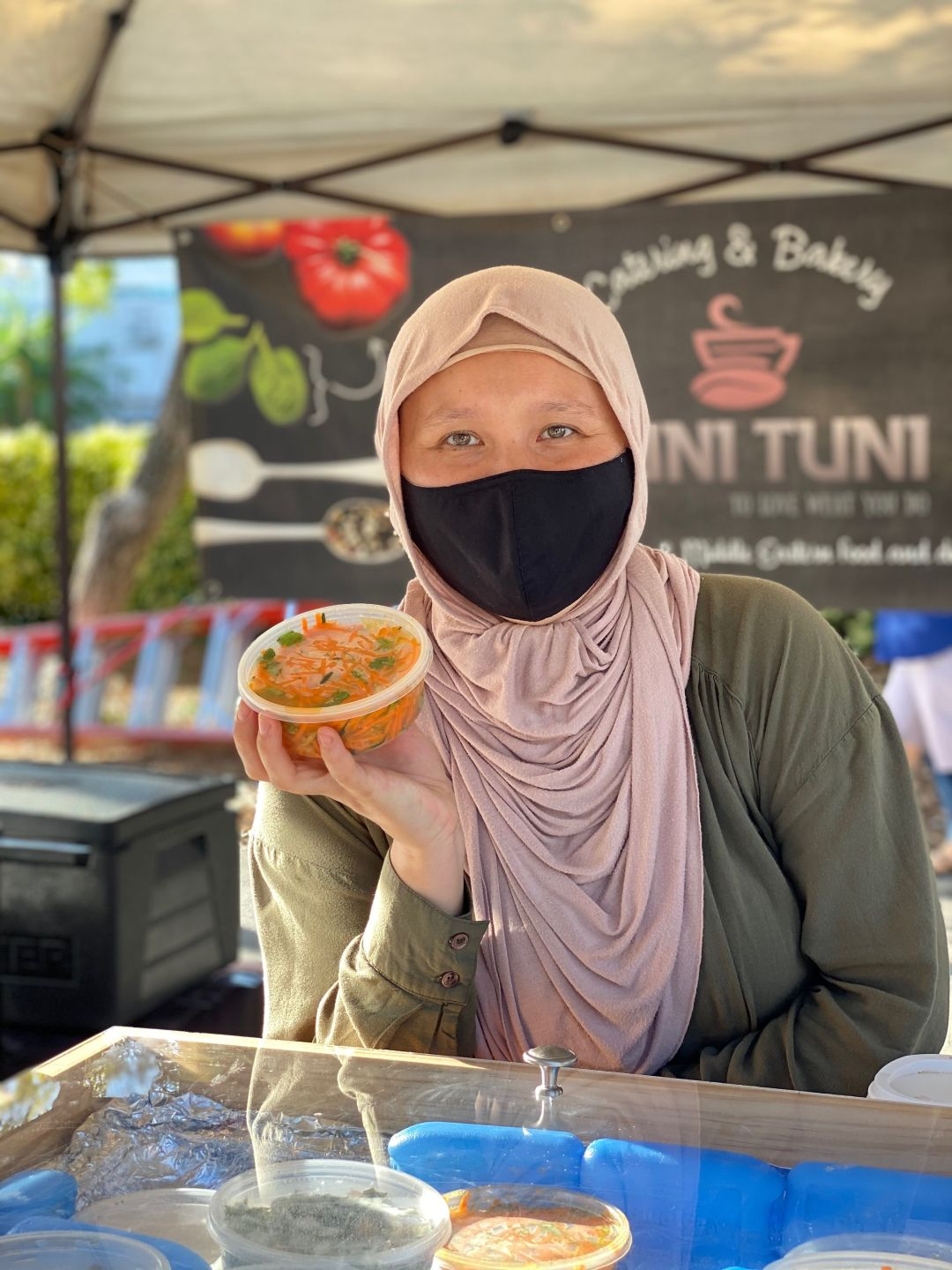 Dana Takenova's Cuni Tuni sells Middle Eastern, Mediterranean, Central Asian and Eastern European items at the market.