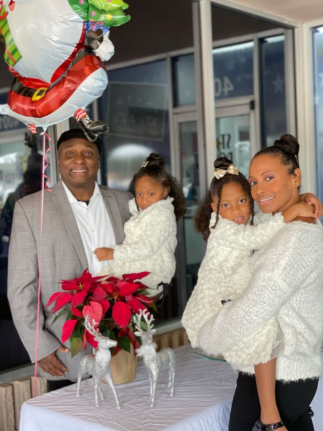 Malushua Griffith and her family