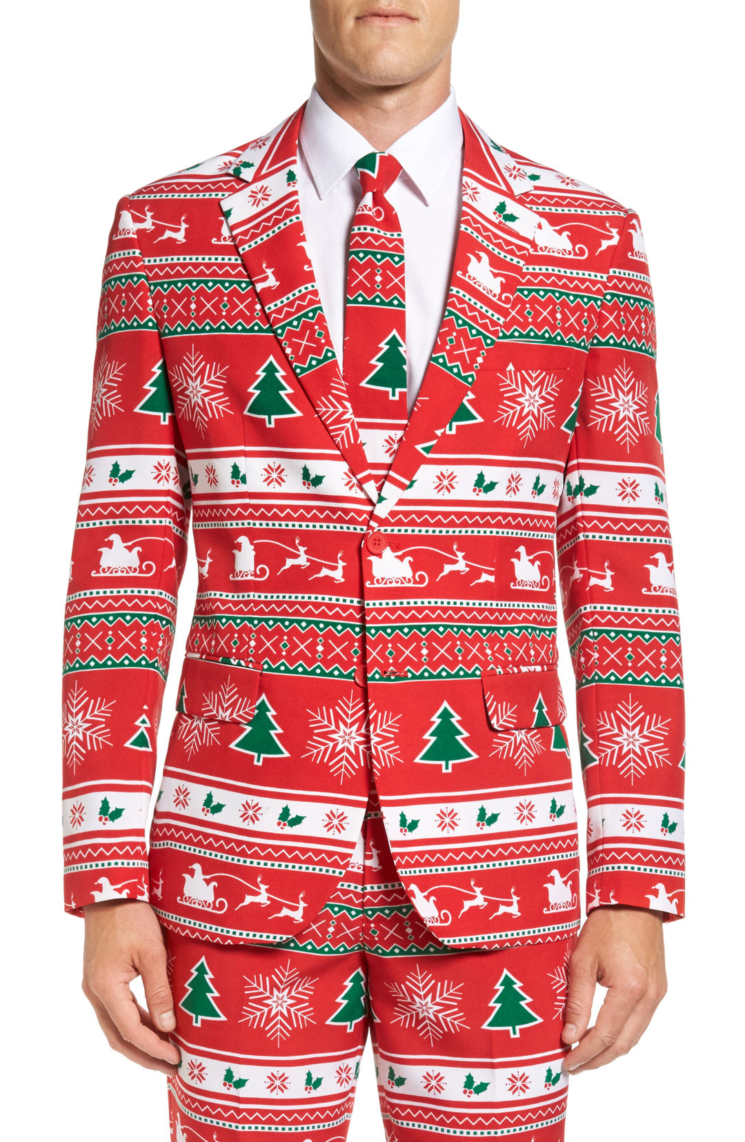 Opposuits  winter wonderland  trim fit two piece suit with tie  99.99 item  5207697 hbuxv2
