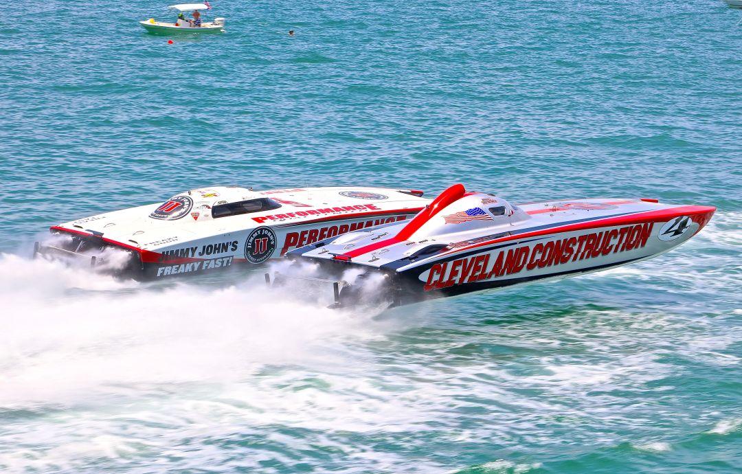 Boats racing in a previous Sarasota Powerboat Grand Prix.