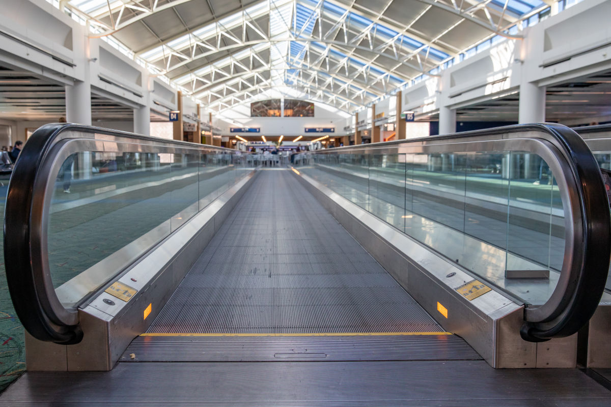 In the Age of Coronavirus, Portland's Airport Is a Near Ghost Town