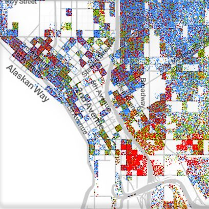 Joe wolf 2010 us census block level mapped by race ethnicity kvjofn