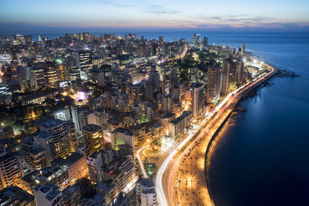 Beirut by Night. IMAGE: SHUTTERSTOCK