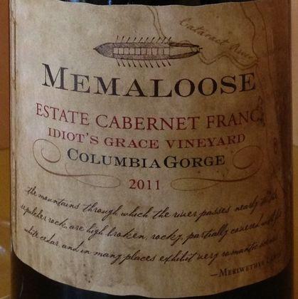Memaloose cabernet franc grfb8c