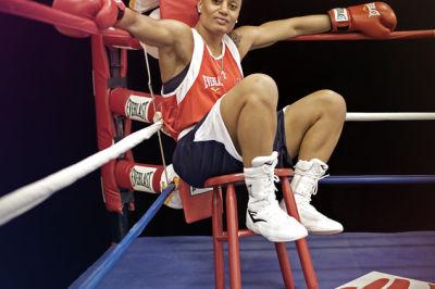 Boxer in corner xvjk7n
