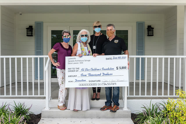 The $5,000 donation will furnish one of All Star Children's Foundations six foster homes.