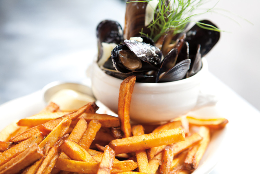 Mussels And Fries At Restaurant Marche Seattle Met