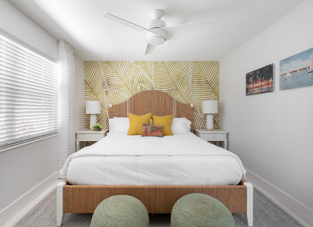 Bedrooms at the Sailfish Beach Resort on Anna Maria got a fresh makeover last year.