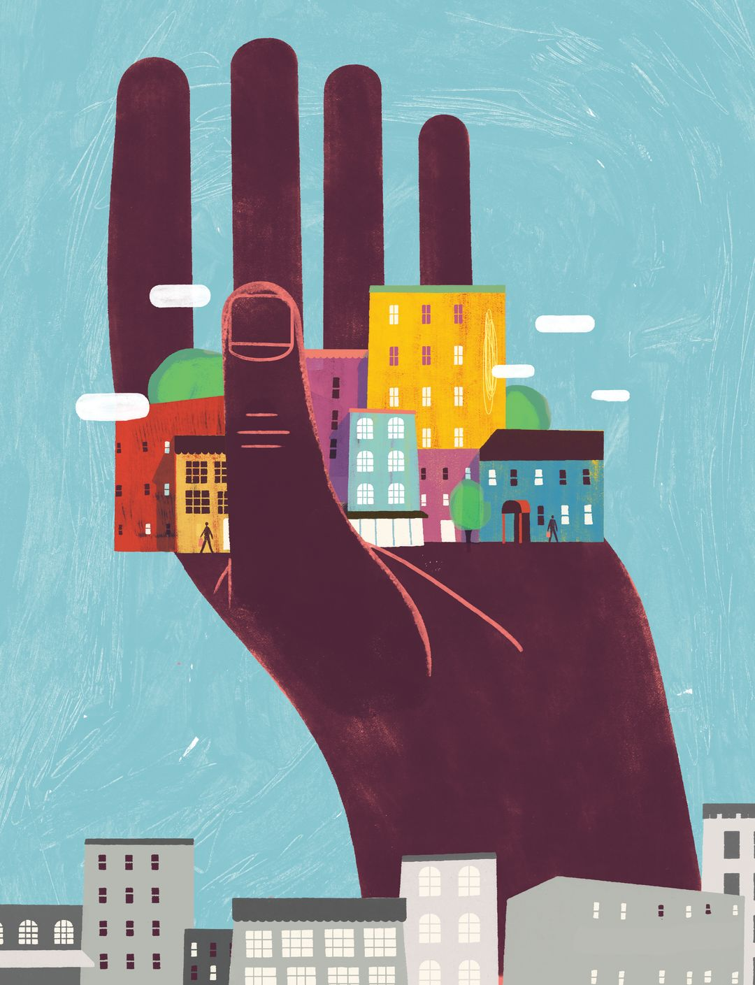 Pomo 0716 gentrification illustration hand house keith negley a3rkh2