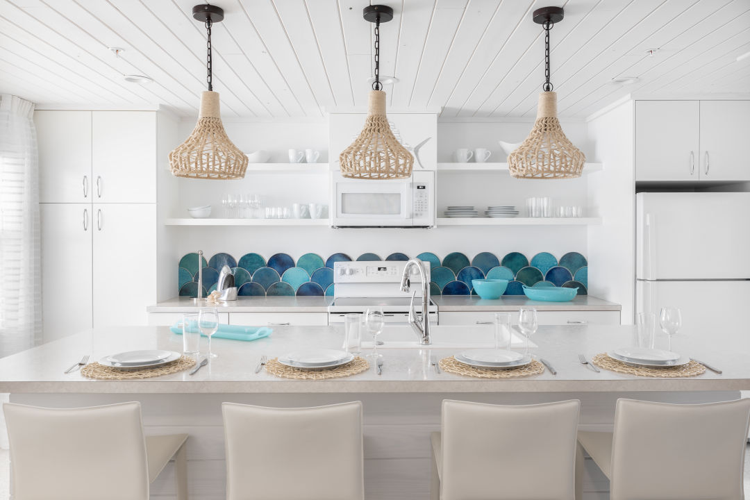 Last year, Orange Moon Interiors' lead designer Kelley Kaiser turned the four Sailfish Beach Resort bungalows on Anna Maria Island into spaces full of coastal whimsy.