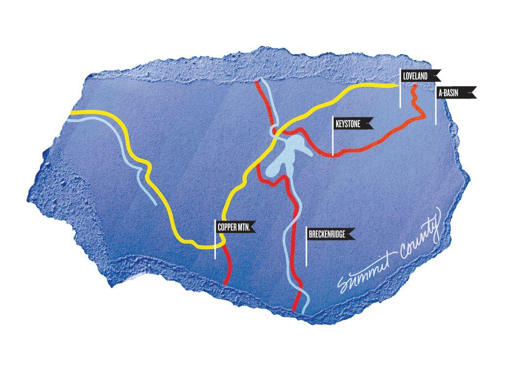 Colorado summit home runs ski map winter 2016 bxj85l