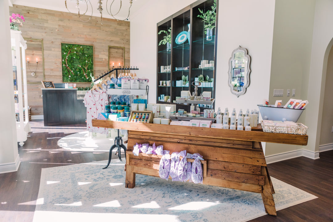 The Woodhouse Spa lobby in Baybrook Mall.