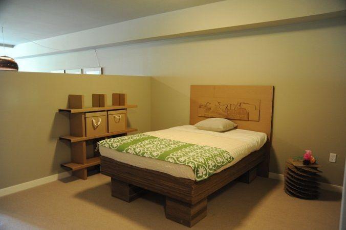 Cardboard model bed ddtqfn