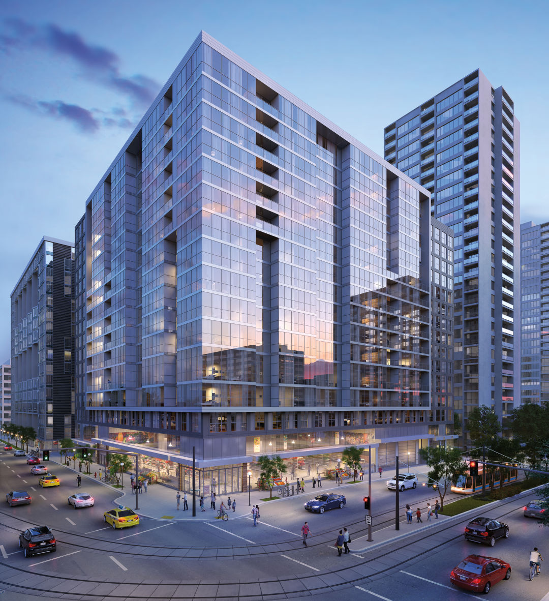 these 4 giant apartment buildings will change downtown living in