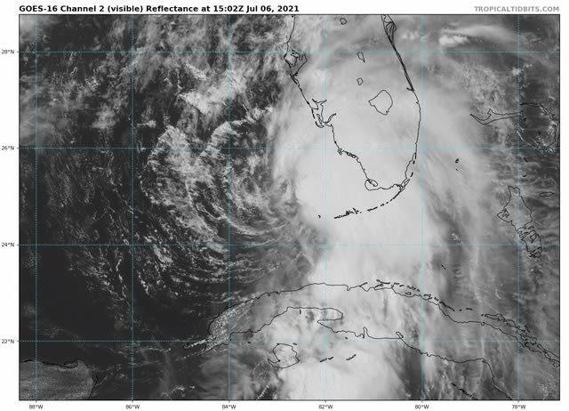 Tropical Storm Elsa on July 6, 2021