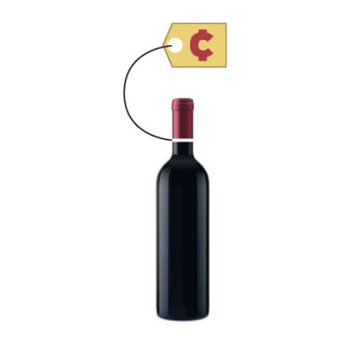 Wine bottle price tag jtyexq
