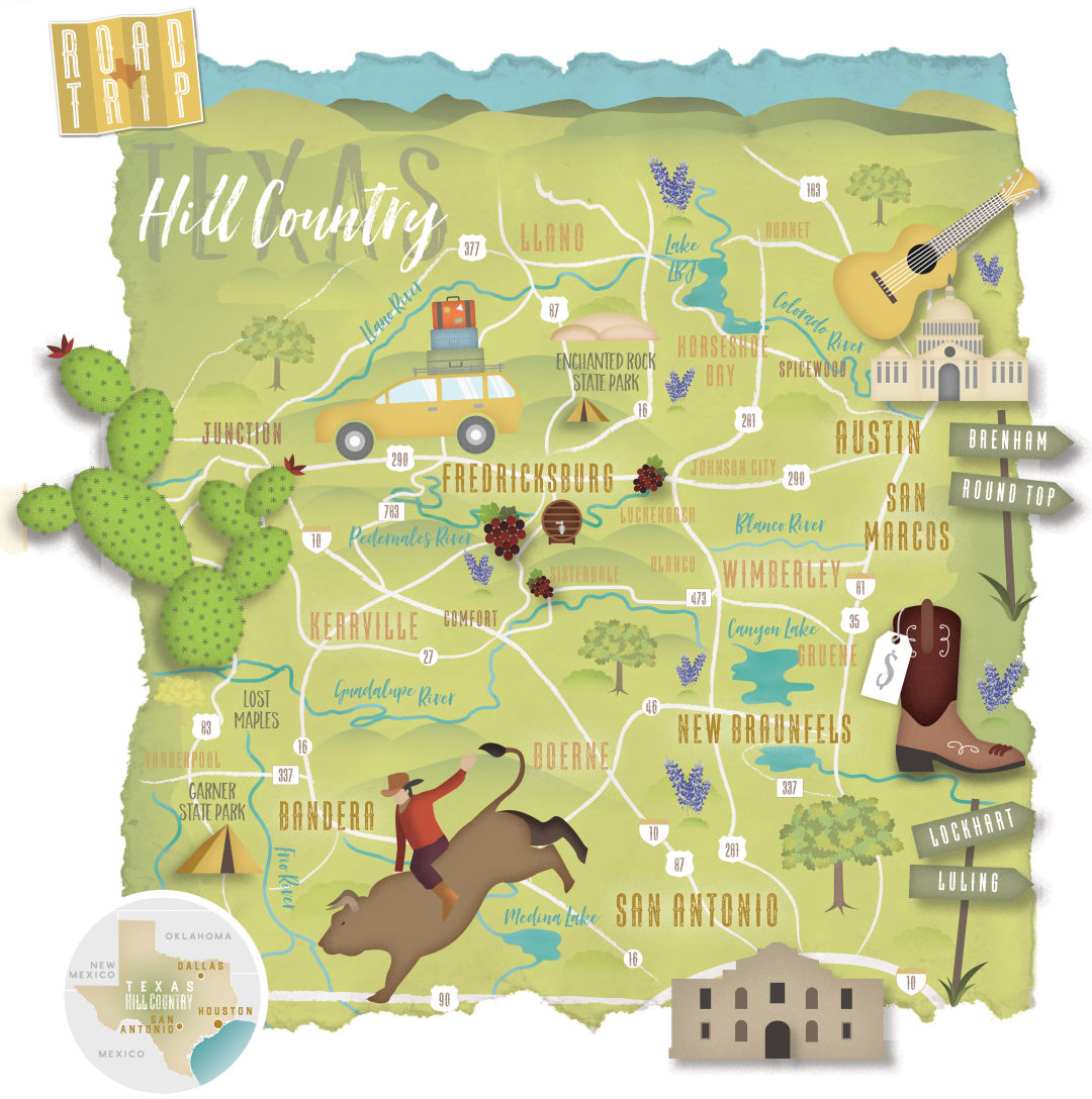 Texas Hill Country Map dc comics map ygoogle maps