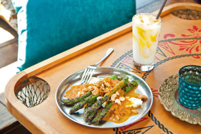 Grilled asparagus with paneer dcjy7r
