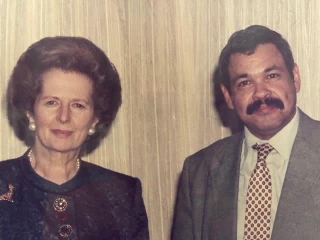 Hunter with Margaret Thatcher